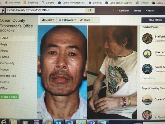 Ocean County Prosecutor's Office Facebook post seeking public's help in locating  Bu Quach, 65, who has been missing from the Manahawkin Nursing & Rehabilitation Center since Nov. 2, 2018.
