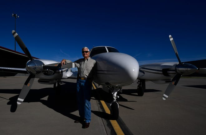 Jack Ramsey has owned and flown his twin-engine Piper Navajo since 1970. The Abilene doctor is to be honored with the Big Country Medical Society's Gold Headed Cane Award.