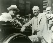 Franklin D. Roosevelt, left, and George F. Johnson, about 1932.