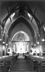 The interior of Christ Episcopal Church in Binghamton.