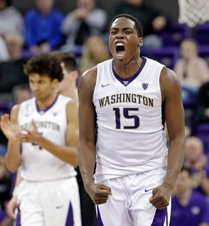 Noah Dickerson and the other Washington seniors hope to make their first NCAA tournament appearance next spring.