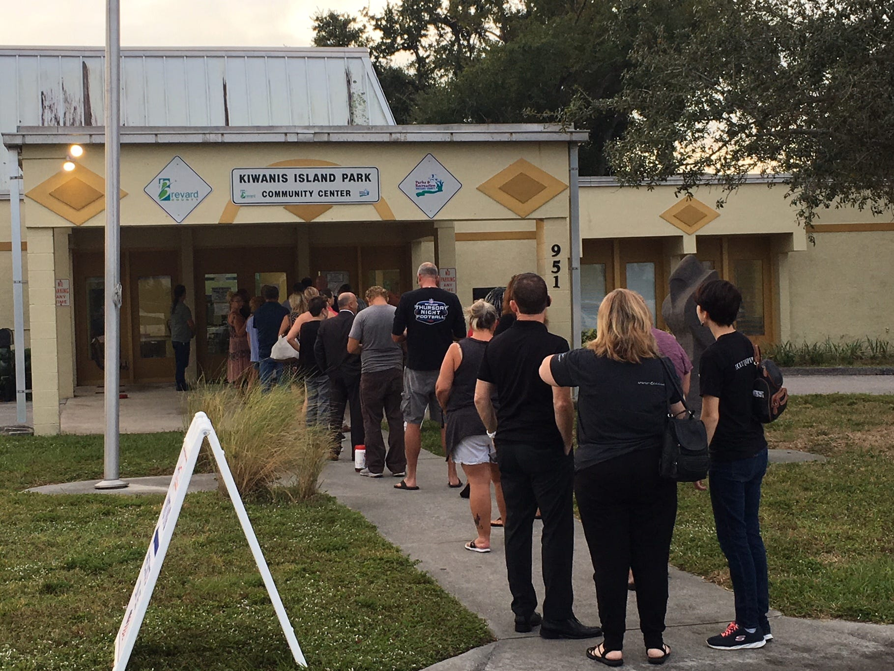 Voter stand in line to vote at Kiwanis Island Park in Merritt Island Nov. 6, 2018.