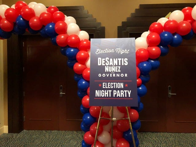 The Ron DeSantis Election Night party is being held in Orlando.