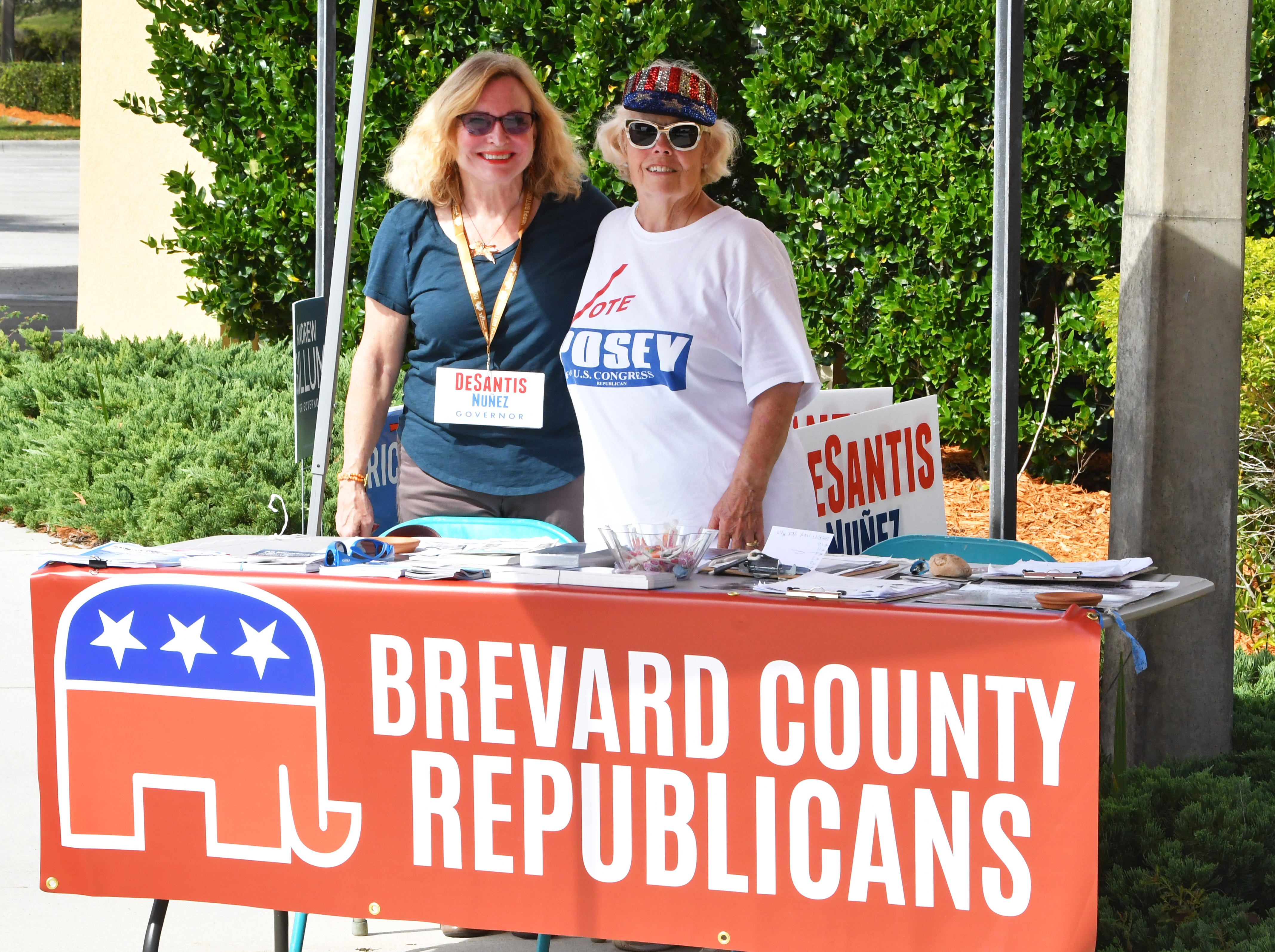 Sharon Rose and Barbara Gorin at the Repulican table. Election Day Tuesday scenes at the Church at Viera, where several precincts were located.