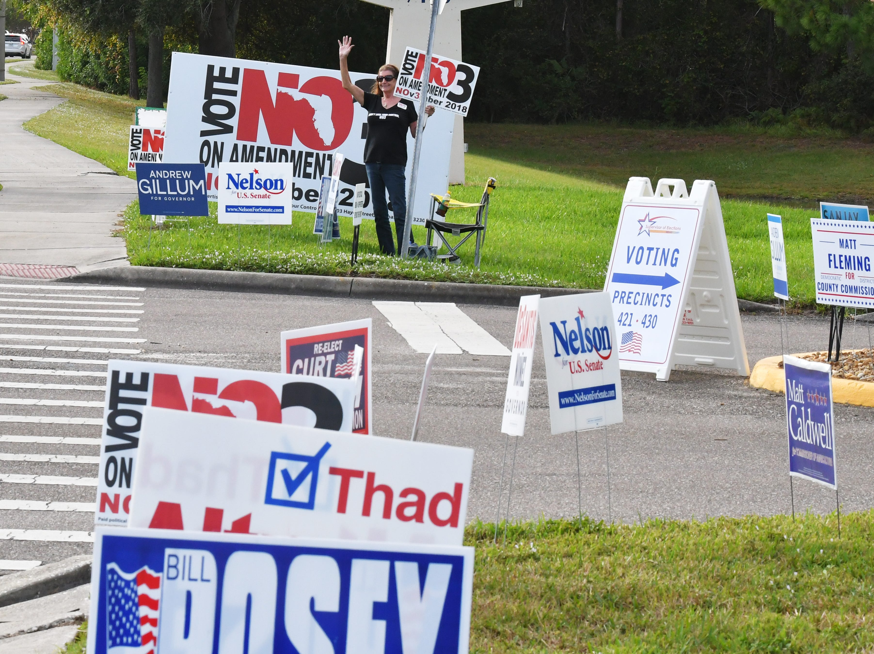 . Election Day Tuesday scenes at Suntree United Methodist Church, where several precincts were located.