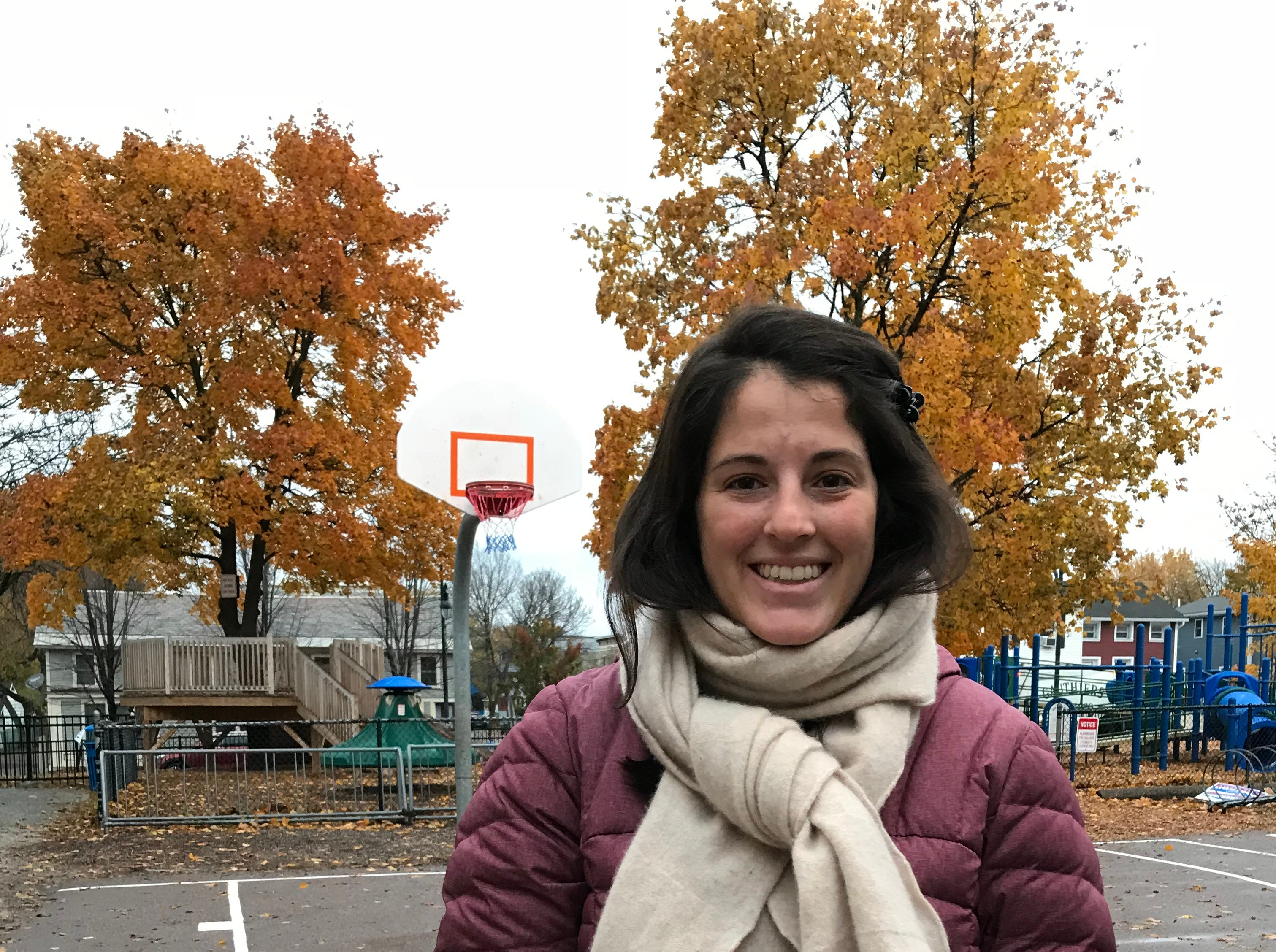Katie Paige voted at the Old North End Sustainability Academy at Lawrence Barnes, Burlington's Ward 3, on Tuesday, Nov. 6, 2018.