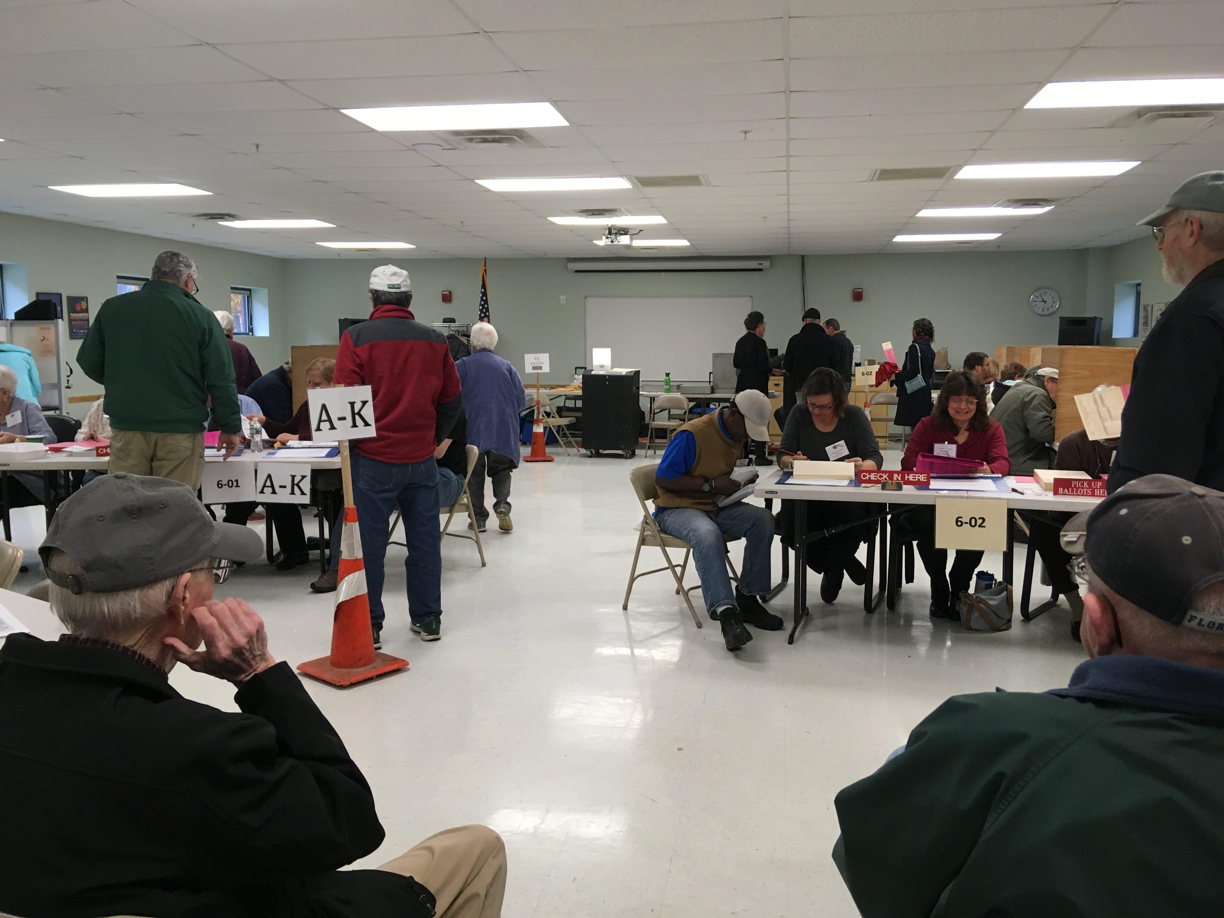 Burlington's Ward 7 polling location at the Robert Miller Recreation Center seen on the morning of Nov. 6, 2018.