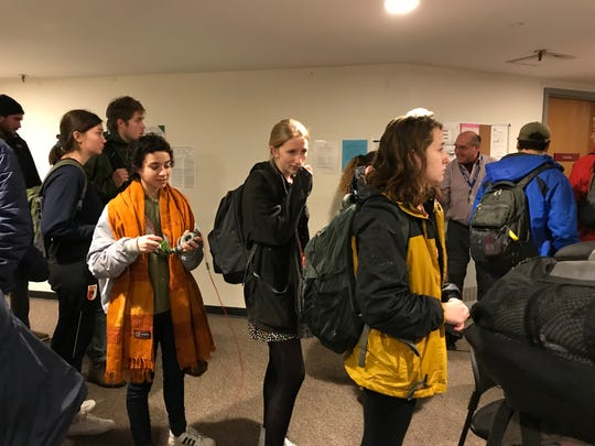 Burlington's Ward 8 residents wait for their chance to vote at Fletcher Free Library on Tuesday, Nov. 6, 2018.