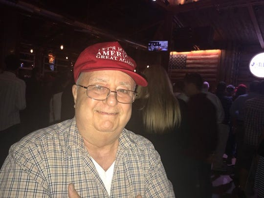 Retiree C.C. Loyd at the Ted Cruz closing rally at the Redneck Country Club in Stafford, Texas, on Nov. 5, 2018.