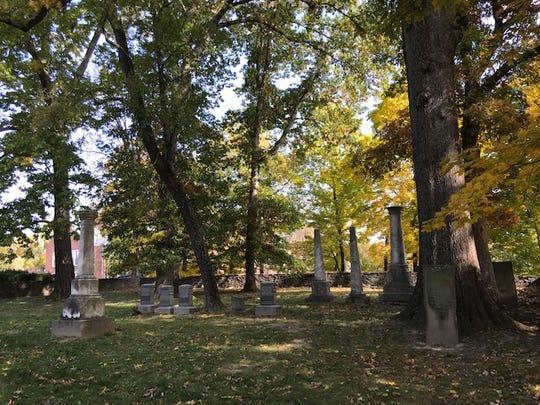 A pioneer cemetery, seen here Oct. 30, 2018, is atop a hillside by the Cincinnati Waldorf School.
