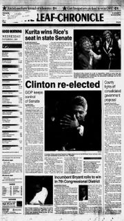 The Leaf-Chronicle front page from Nov. 6, 1996, the day after the second consolidated government referendum failed.
