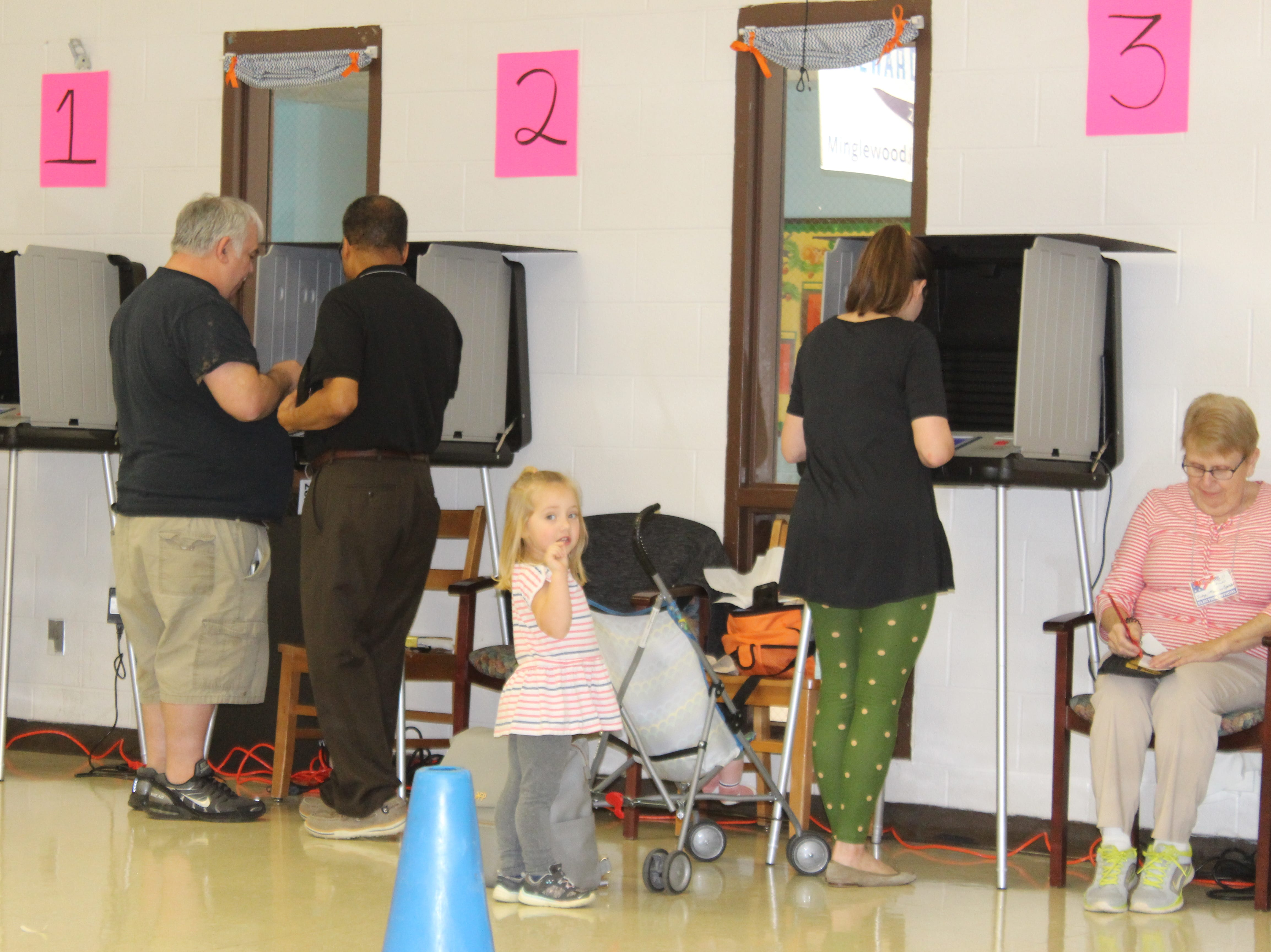 Voters at Minglewood Elementary in Clarksville on election day, Nov. 6.