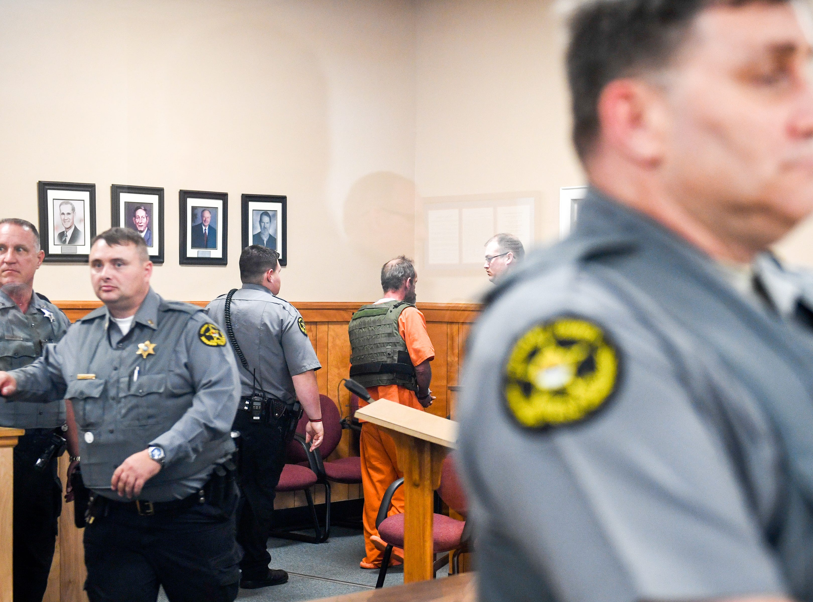 Kirby Wallace, 53, exits the courtroom after the preliminary hearing for charges including the killing of Indian Mound resident Brenda Smith at the Stewart County Courthouse Tuesday, Nov. 6, 2018, in Dover, Tenn. Wallace was caught Oct. 5 following a seven-day manhunt that expanded into Montgomery County.