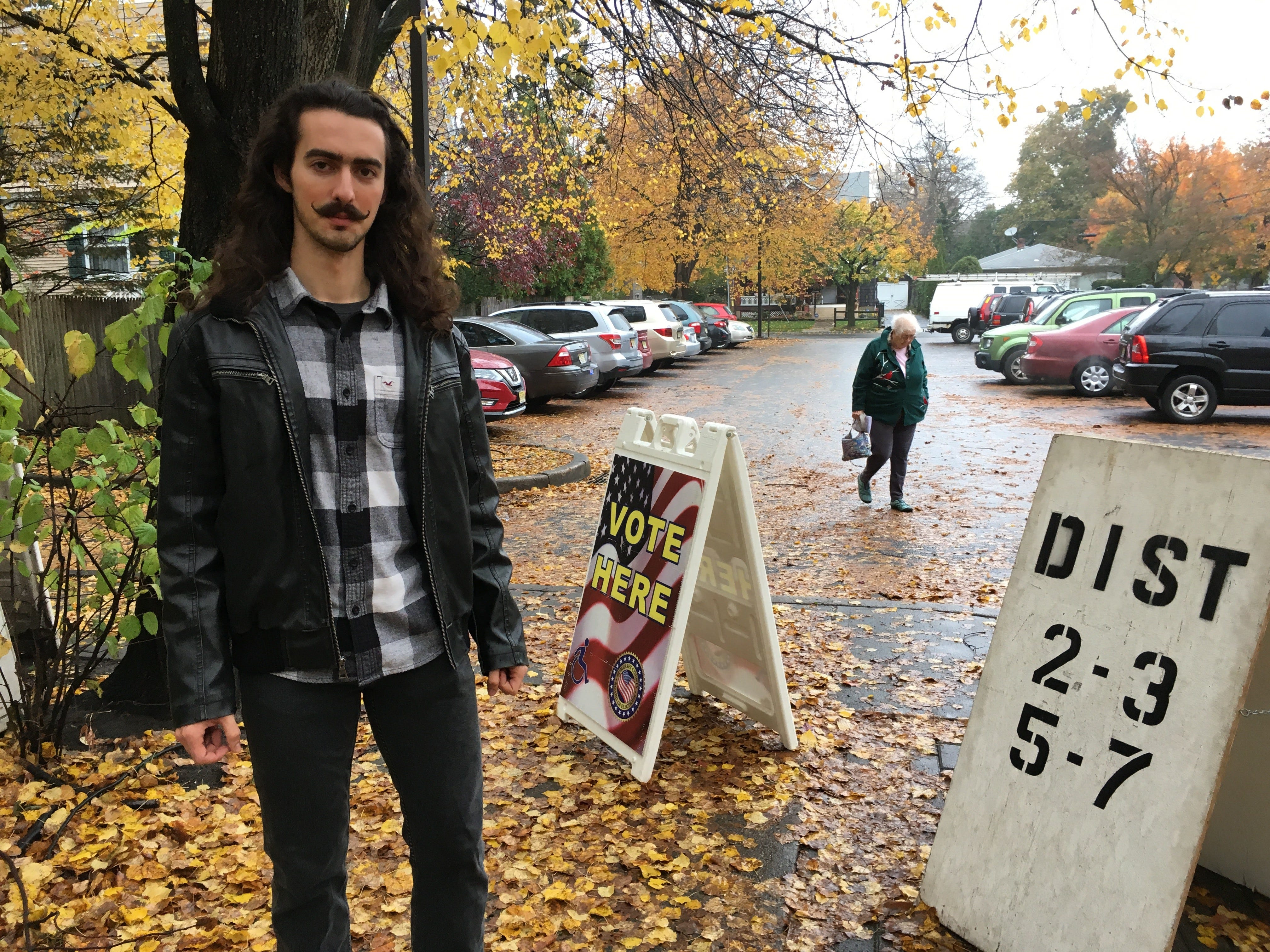 Seps Gharavi, a student at Rutgers, voted at the Presbyterian Church of Bound Brook on Nov. 6.