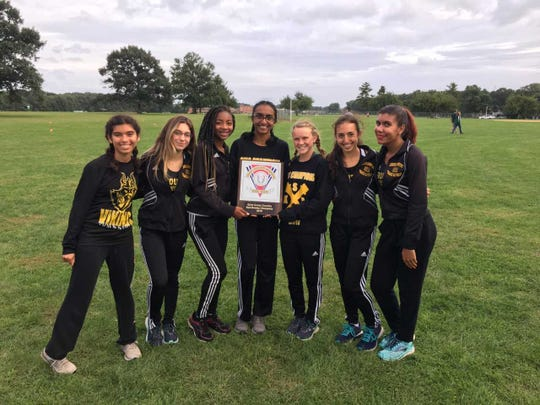 The South Brunswick girls cross country team after winning the GMC Red Division title.
