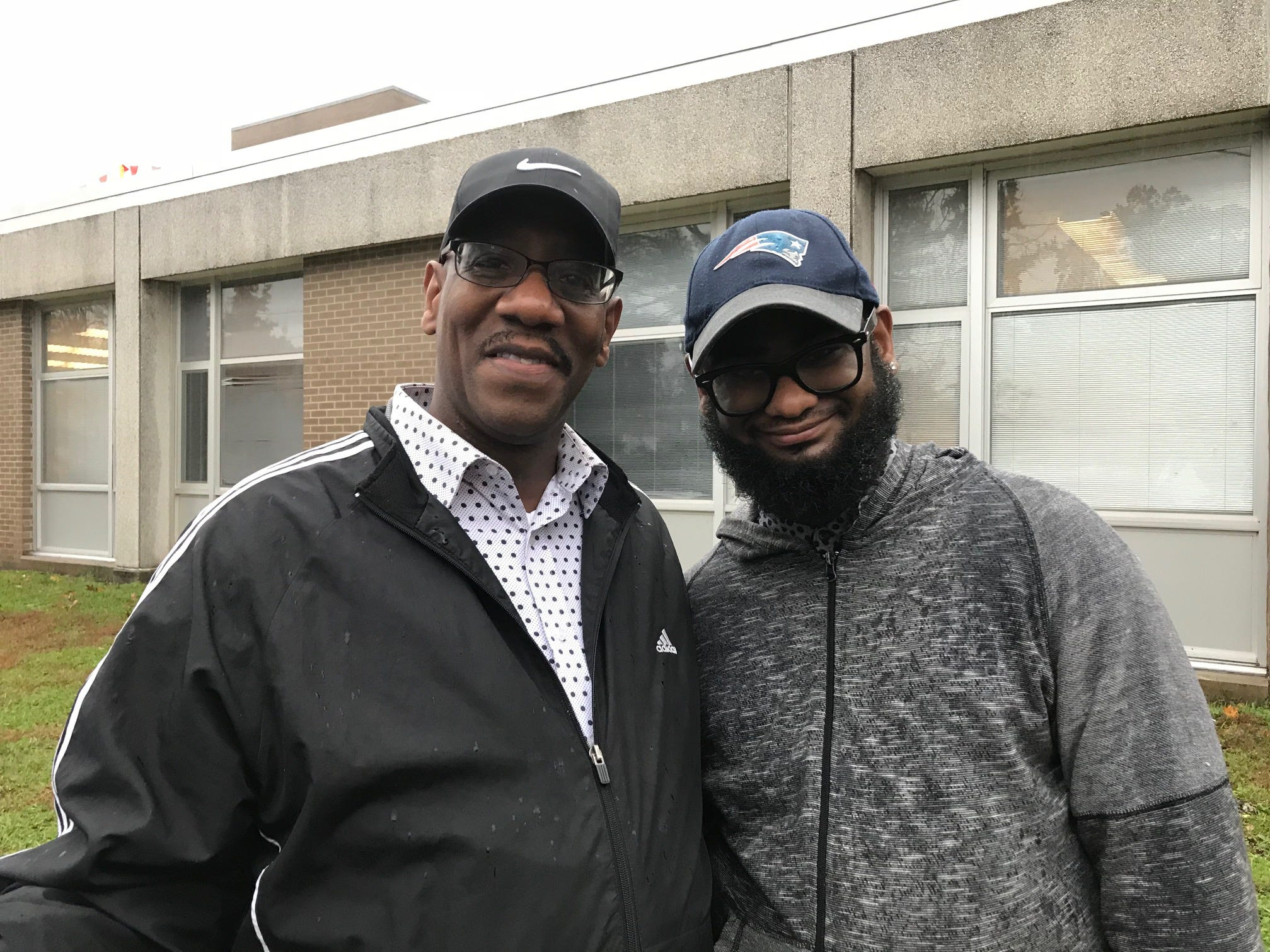 The Rev. Rayman and his son, Rayvon Wyatt, voted at Plainfield High School on Tuesday, Nov. 6.