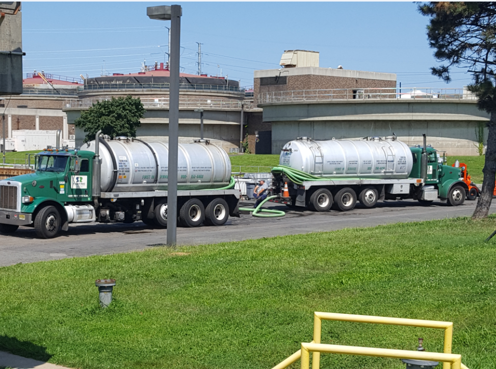 Russell Reid, a Keasbey-based industrial waste hauler, delivers fats, oils and grease from Central Jersey professional kitchens to Joint Meeting of Union & Essex Counties waster water treatment plant, where the FOG is used to make renewable energy.
