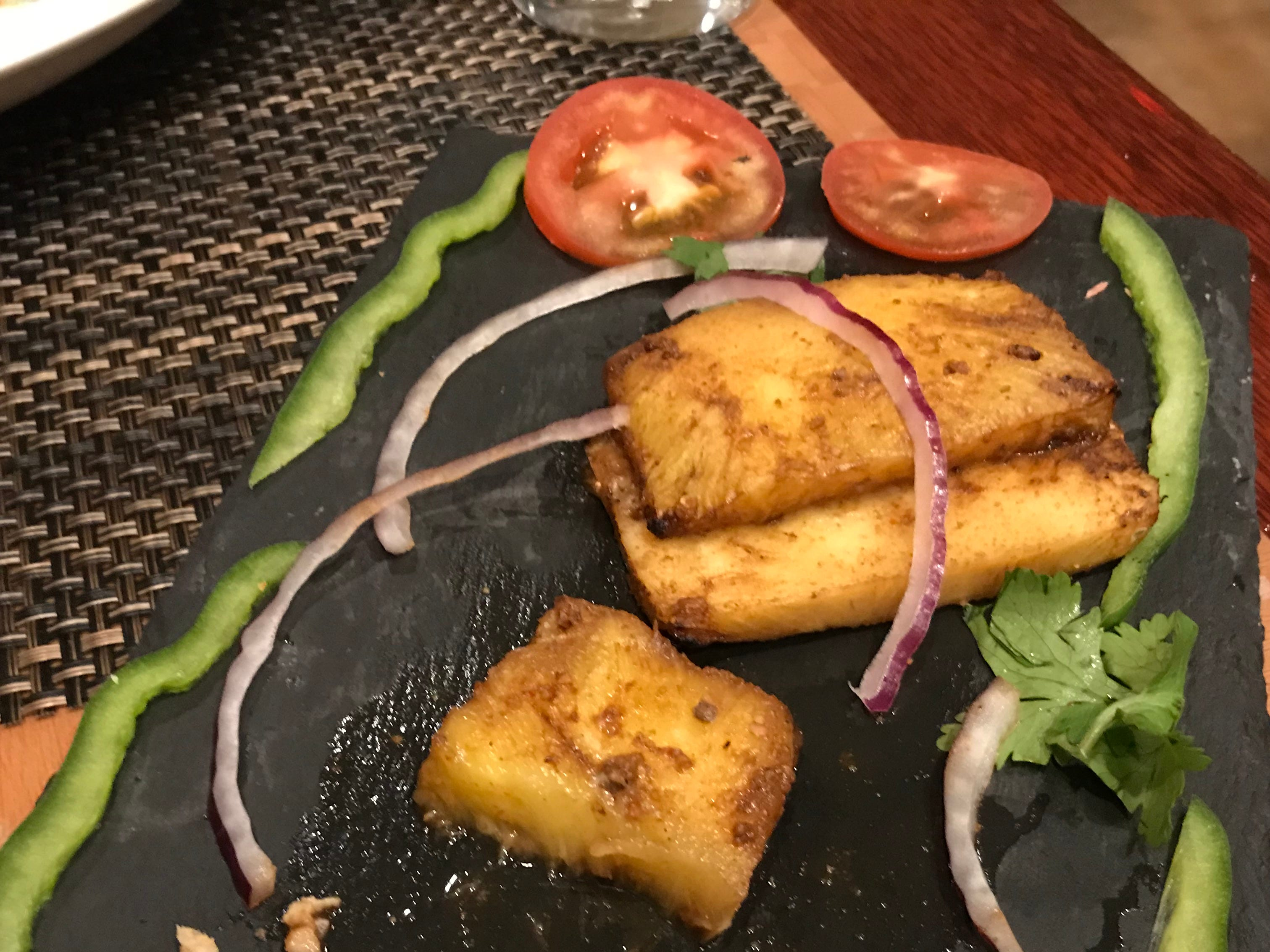 Pineapple is among the kababs available at Metuchen's new Kabab Factory.
