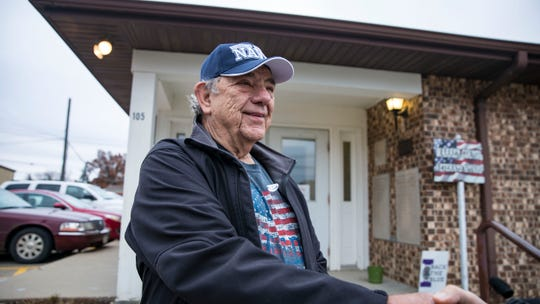 Bill Feldman at the American Legion in Indianola (precinct 7), voted in the midterm elections, Tuesday, Nov. 6, 2018, in Indianola, Iowa.
