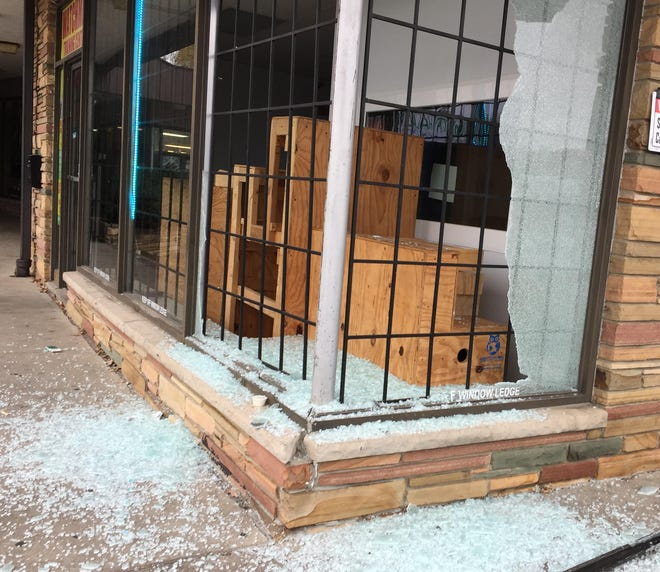 Early Saturday morning, vandals smashed the windows of The Watchmen Training Center, a nonprofit organization located on Douglas Avenue.