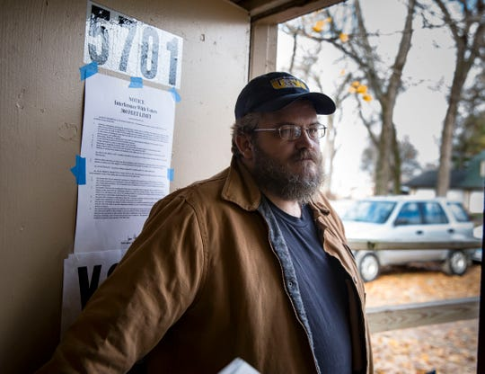 Zeke Eggers voted at Avon Lake, Tuesday, Nov. 6, 2018, in central Iowa.