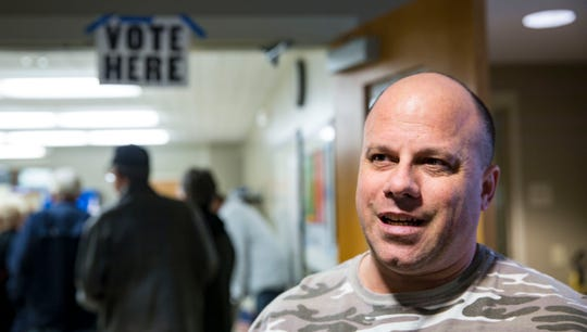 Gregory Nystrom of Berwick after voting Tuesday, Nov. 6, 2018, at the Norwoodville Community Center in Polk County.