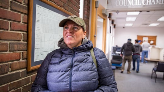 Heather McMillan after voting at Altoona City Hall Tuesday, Nov. 6, 2018.