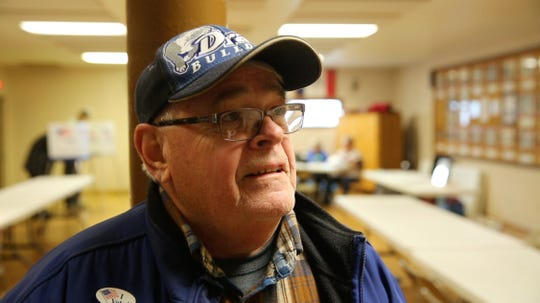 John Miller after voting Tuesday, Nov. 6, 2018, in Lacona, Iowa.
