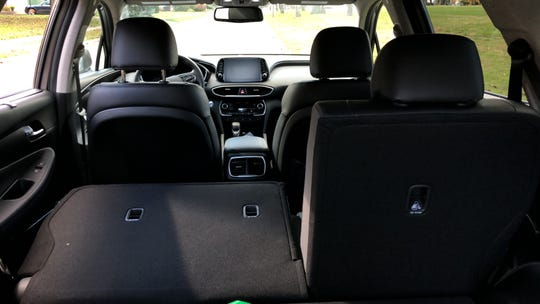 The 2019 Santa Fe has plenty of passenger and cargo space.