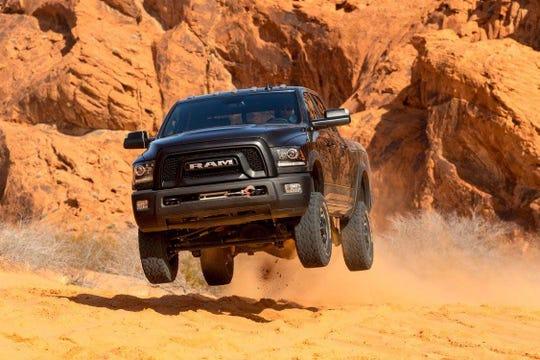 Nick Cappa, Ram spokesman, test drives the 2018 Ram Power Wagon in a desert outside Las Vegas in May 2017.