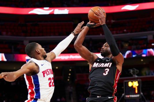 Nba Miami Heat At Detroit Pistons