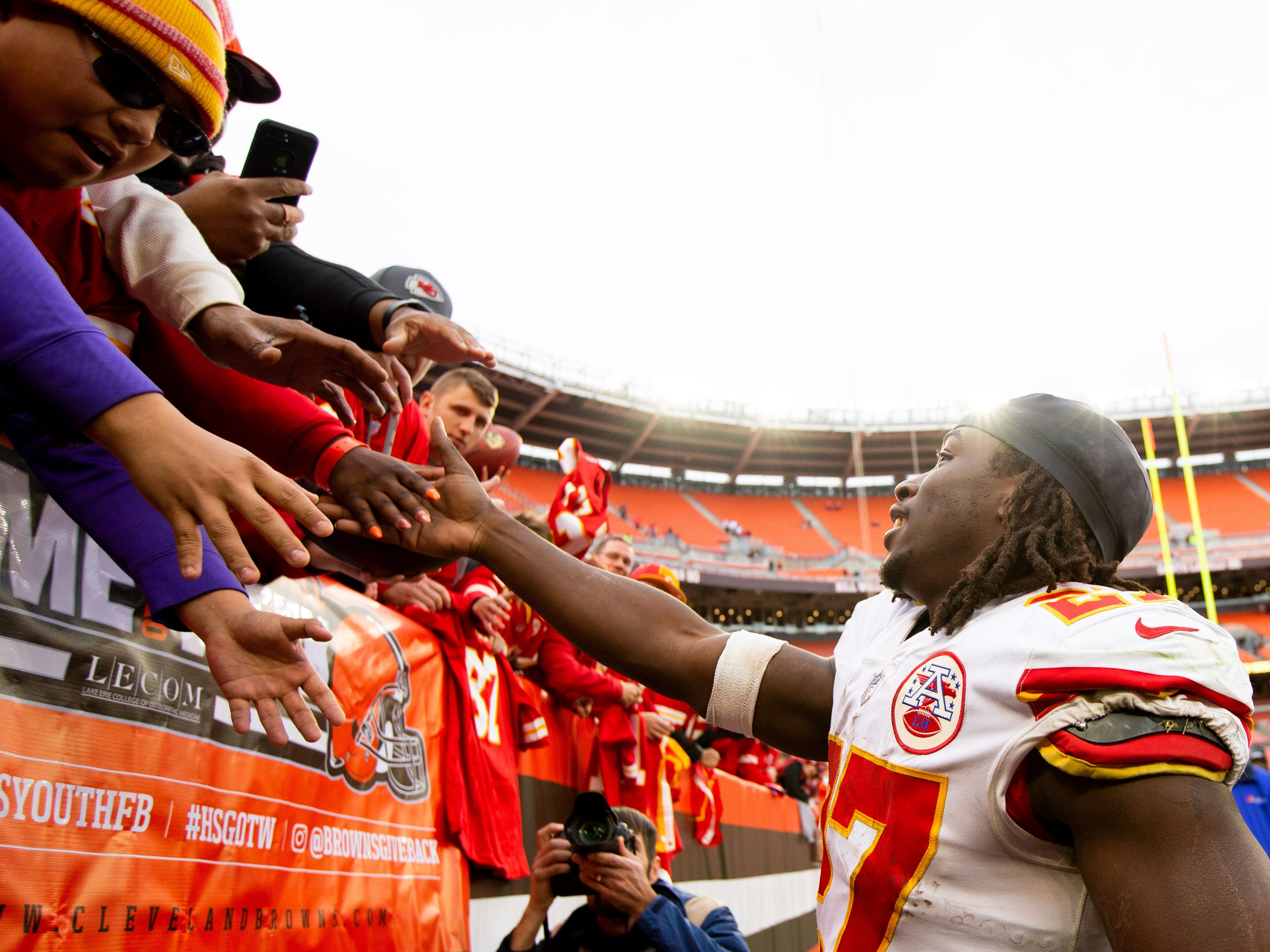 3. Chiefs (8-1) | Last game: Defeated the Browns, 37-21 | Previous ranking: 3
