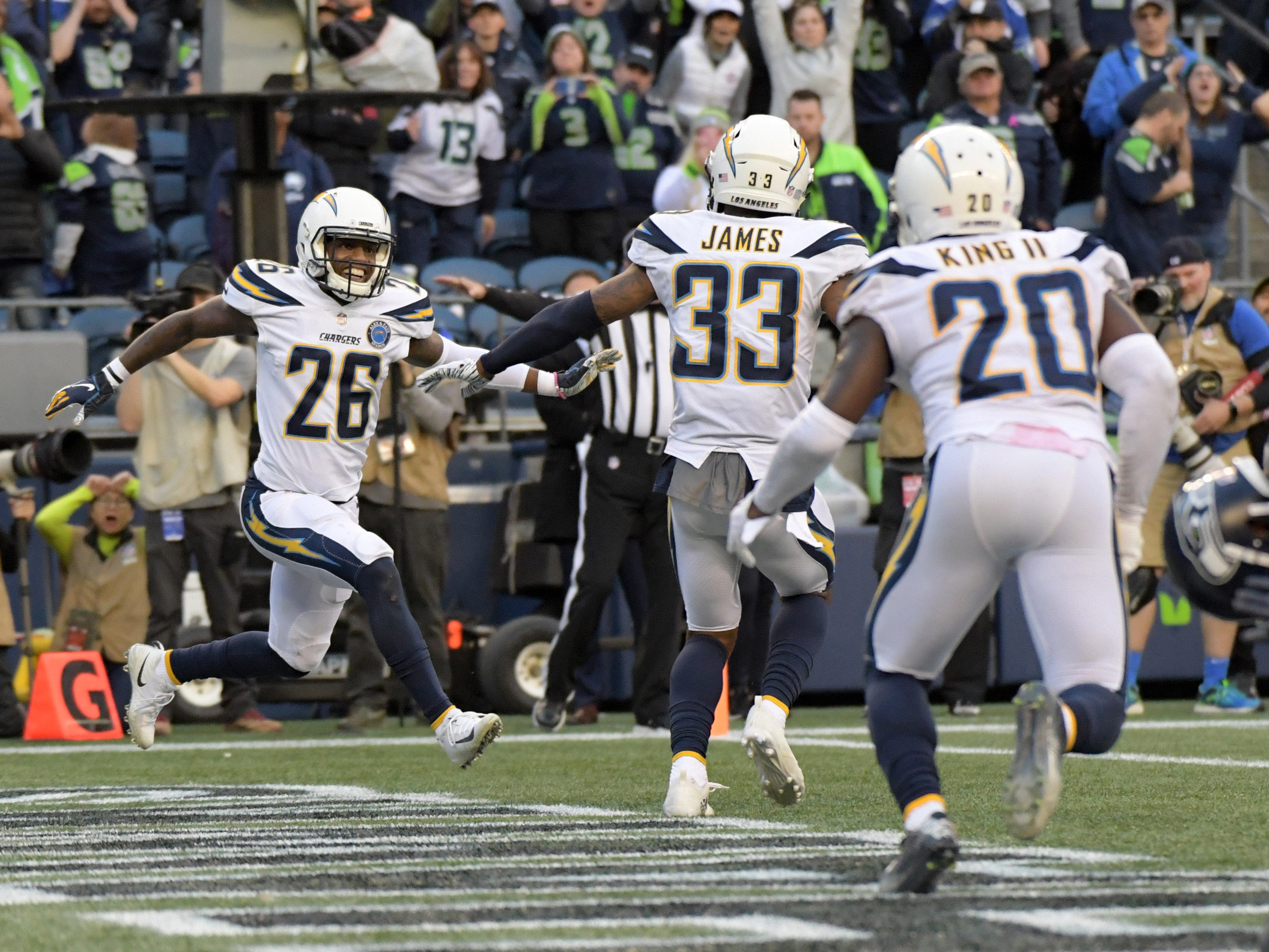 6. Chargers (6-2) | Last game: Defeated the Seahawks, 25-17 | Previous ranking: 5