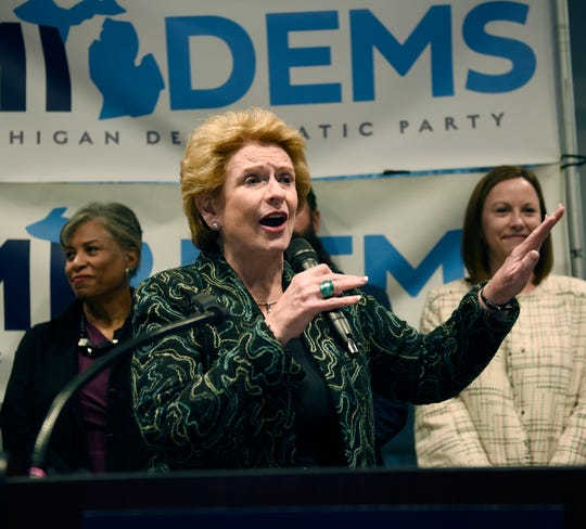 U.S. Sen. Debbie Stabenow speaks at a campaign rally Nov. 4 at IBEW Local 58 in Detroit.
