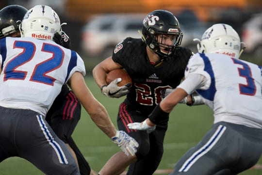Cole Calvert has rushed for more than 900 yards and is a record-setting linebacker for Southridge.