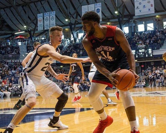 Emmanuel Little finished with nine points and eight rebounds during USI's exhibition with Butler.