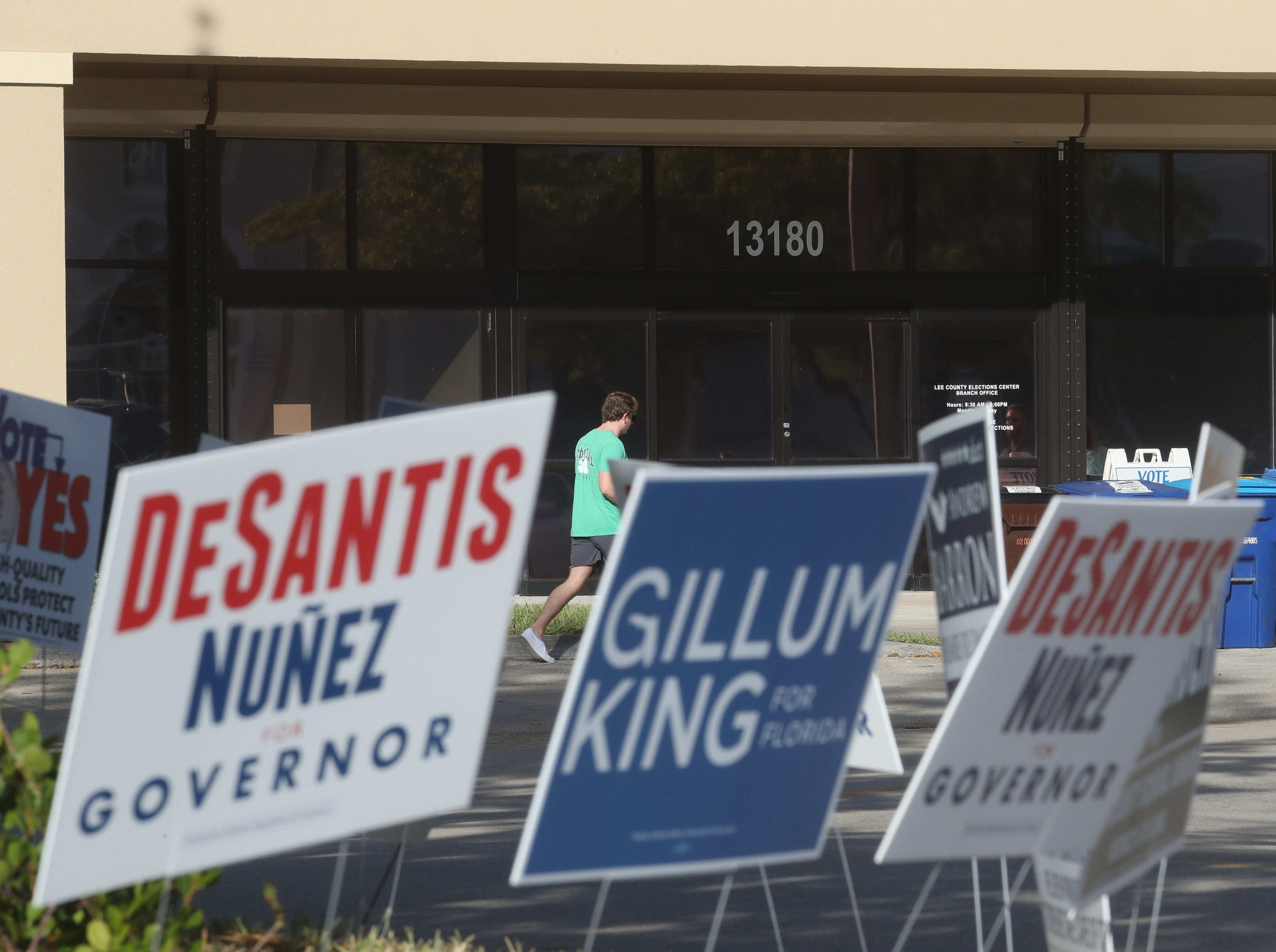 Voter turnout in Lee County is above average for a mid-term election. Traffic at Lee County precincts has been steady.