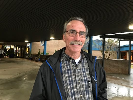 Tom Buss, of Greer, votes in the 2018 midterm elections at Buena Vista Elementary School.