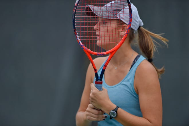 Day Nuckolls is in her sixth year with the Christ Church girls tennis team, her third as the Cavaliers' No. 1 player.