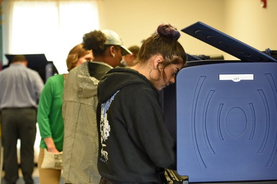 Voters from across the area cast their votes Tuesday, Nov. 6, 2018. Polling station West End Community Center.