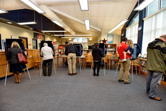 Voters from across Greenville County cast their votes Tuesday, Nov. 6, 2018. Polling station: Summit Elementary.