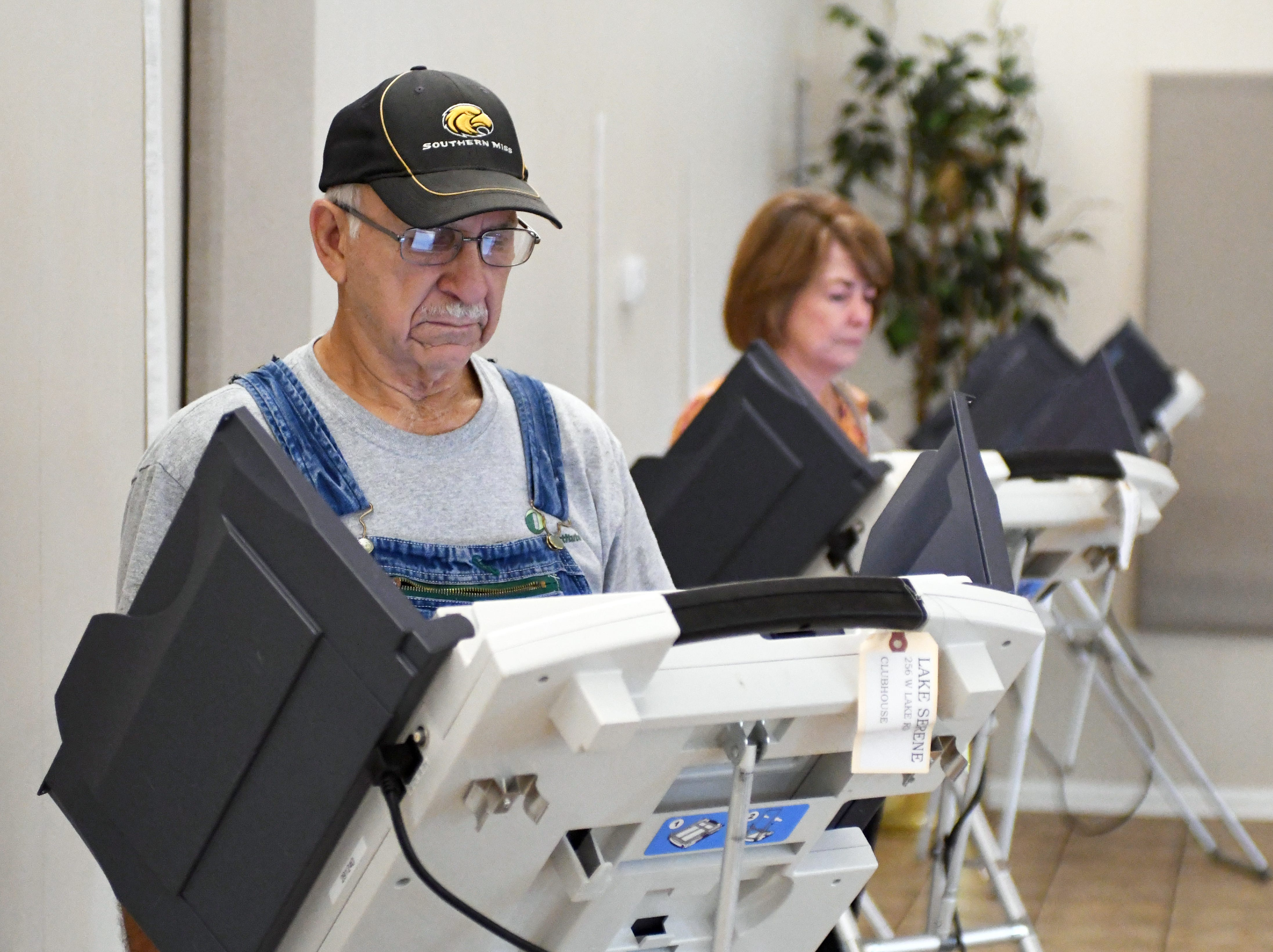 Hattiesburg residents vote during the midterm elections at the Lake Serene precinct on Tuesday, November 6, 2018.