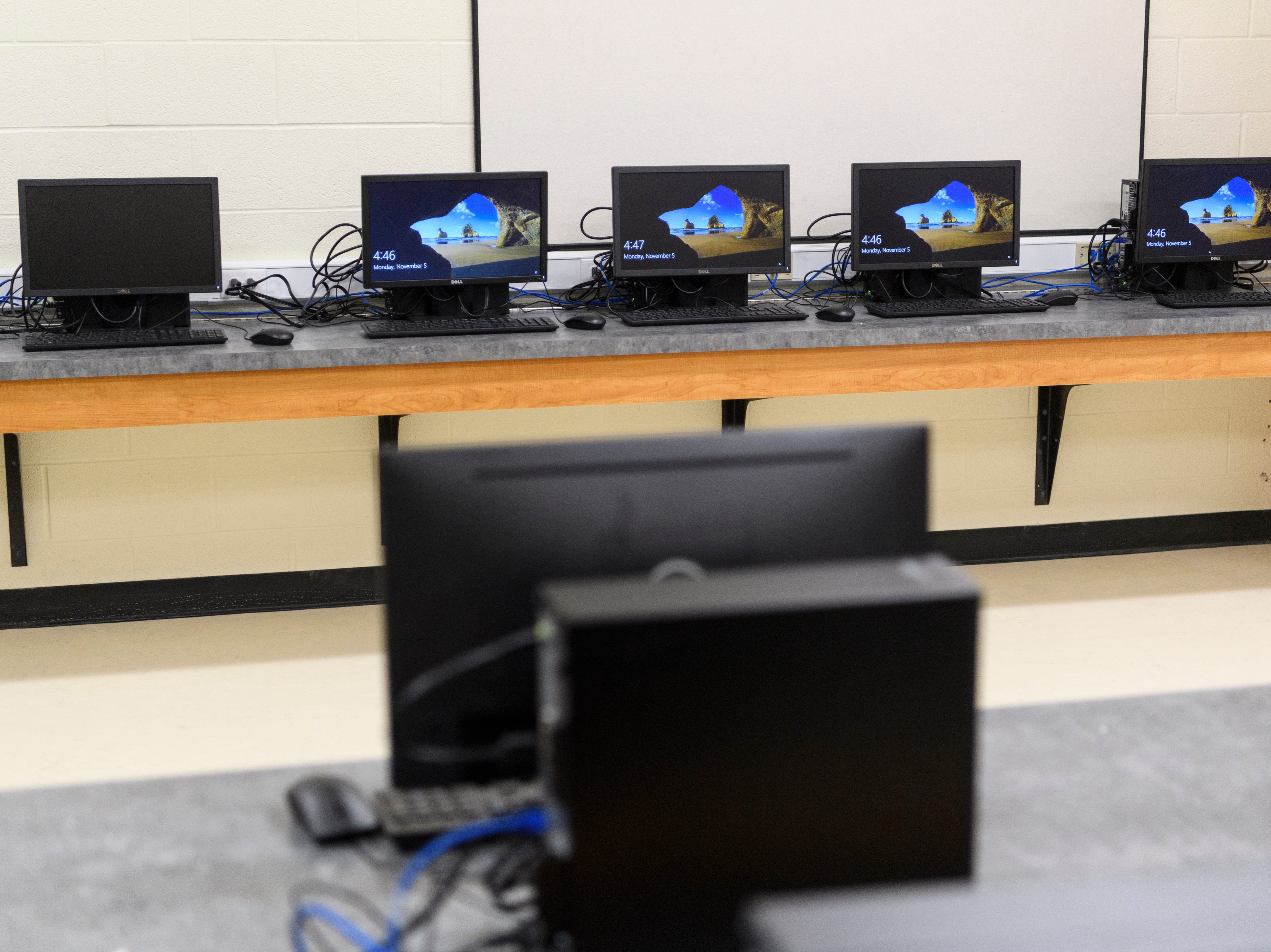 There are two computer labs inside the new 76,796 square-foot building that will become the new Spottsville Elementary school. Faculty and students are expected to move into the new building next Monday, November 12.