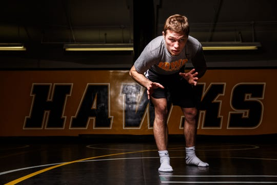 Spencer Lee stands for a portrait during Iowa wrestling media day Monday, Nov. 5, 2018.