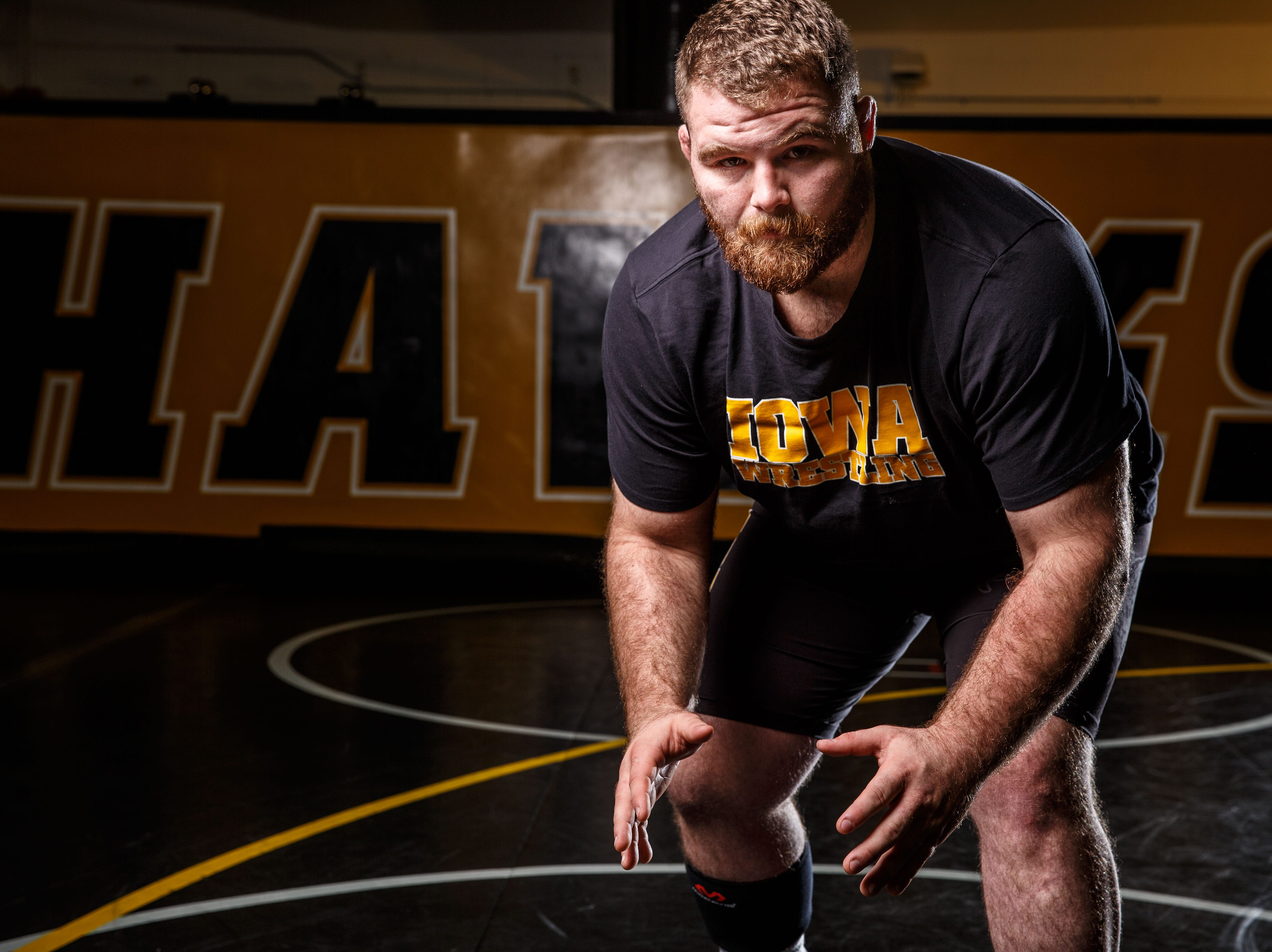 Aaron Costello stands for a portrait during Iowa wrestling media day Monday, Nov. 5, 2018.