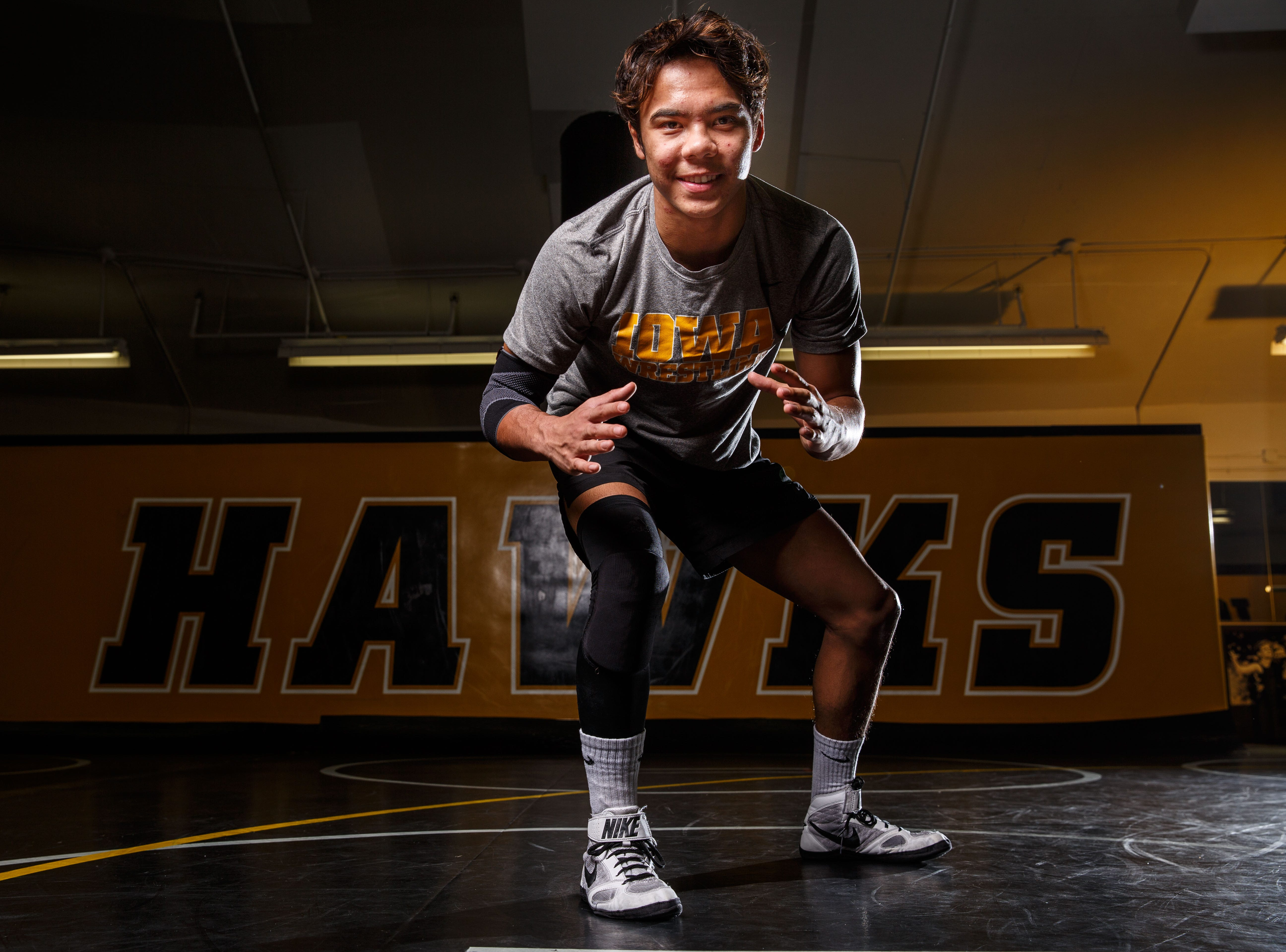 Aaron Cashman stands for a portrait during Iowa wrestling media day Monday, Nov. 5, 2018.