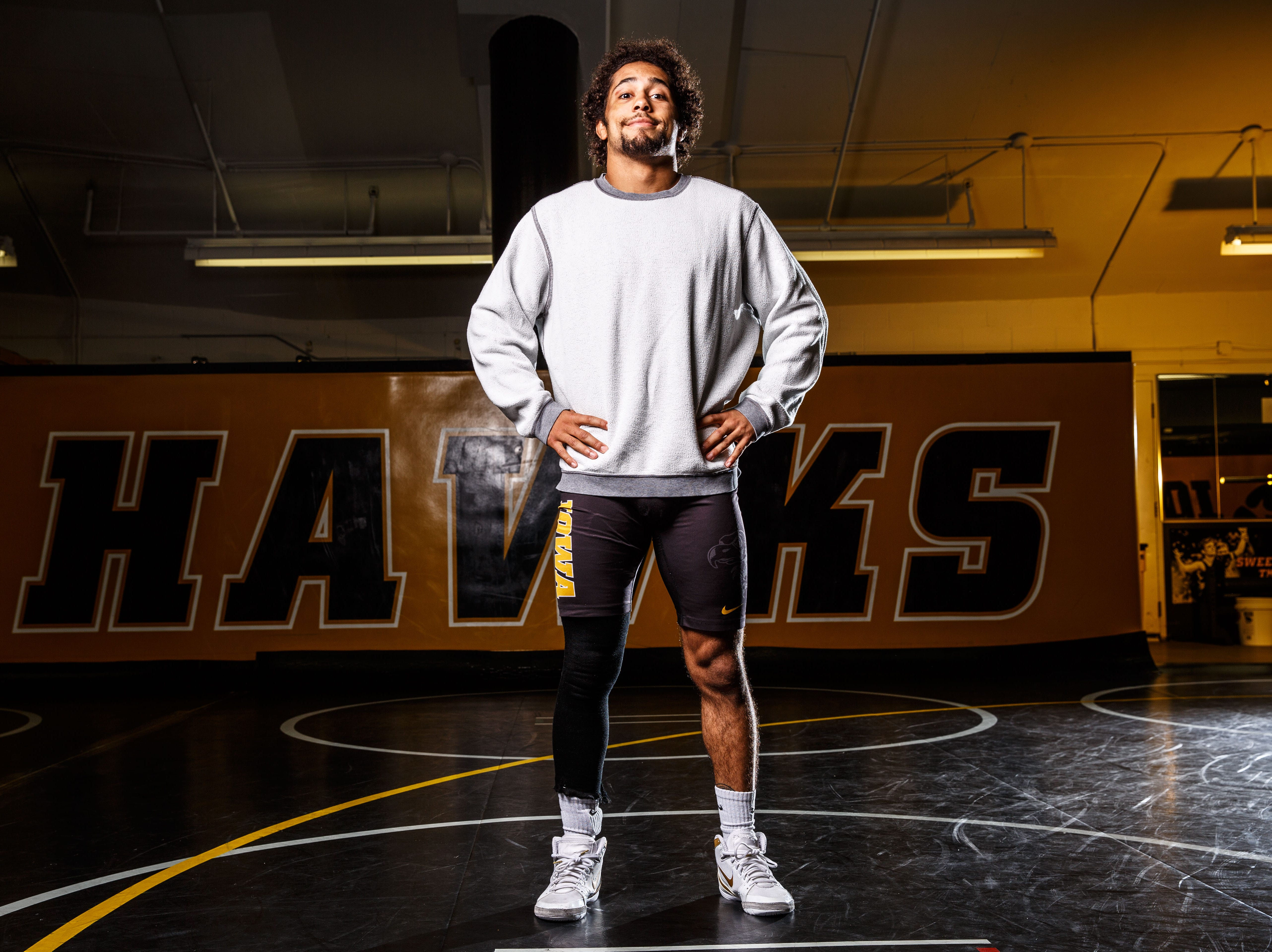 Jeremiah Moody stands for a portrait during Iowa wrestling media day Monday, Nov. 5, 2018.