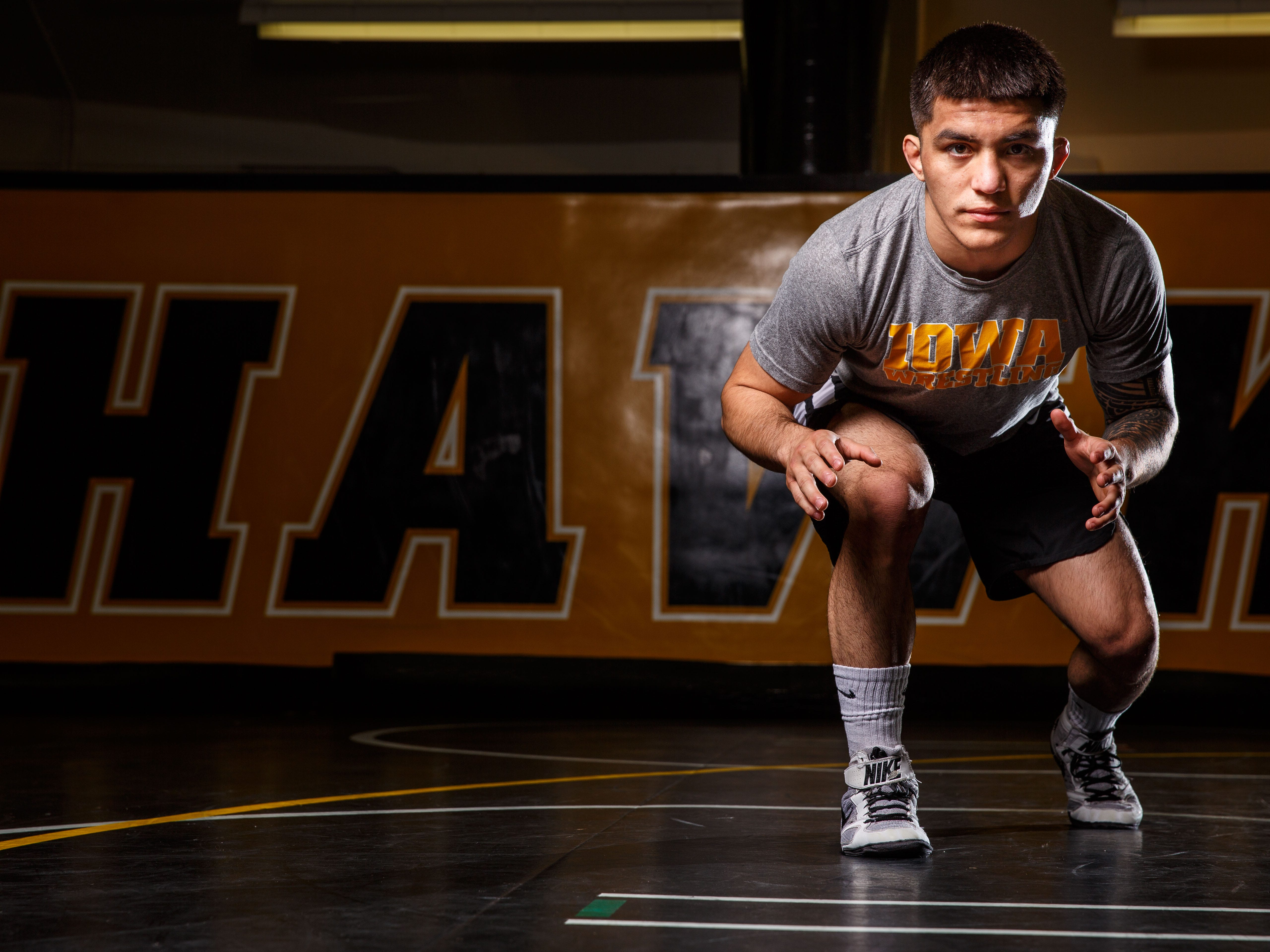 Pat Lugo sees a big opportunity when Iowa wrestling hosts Princeton