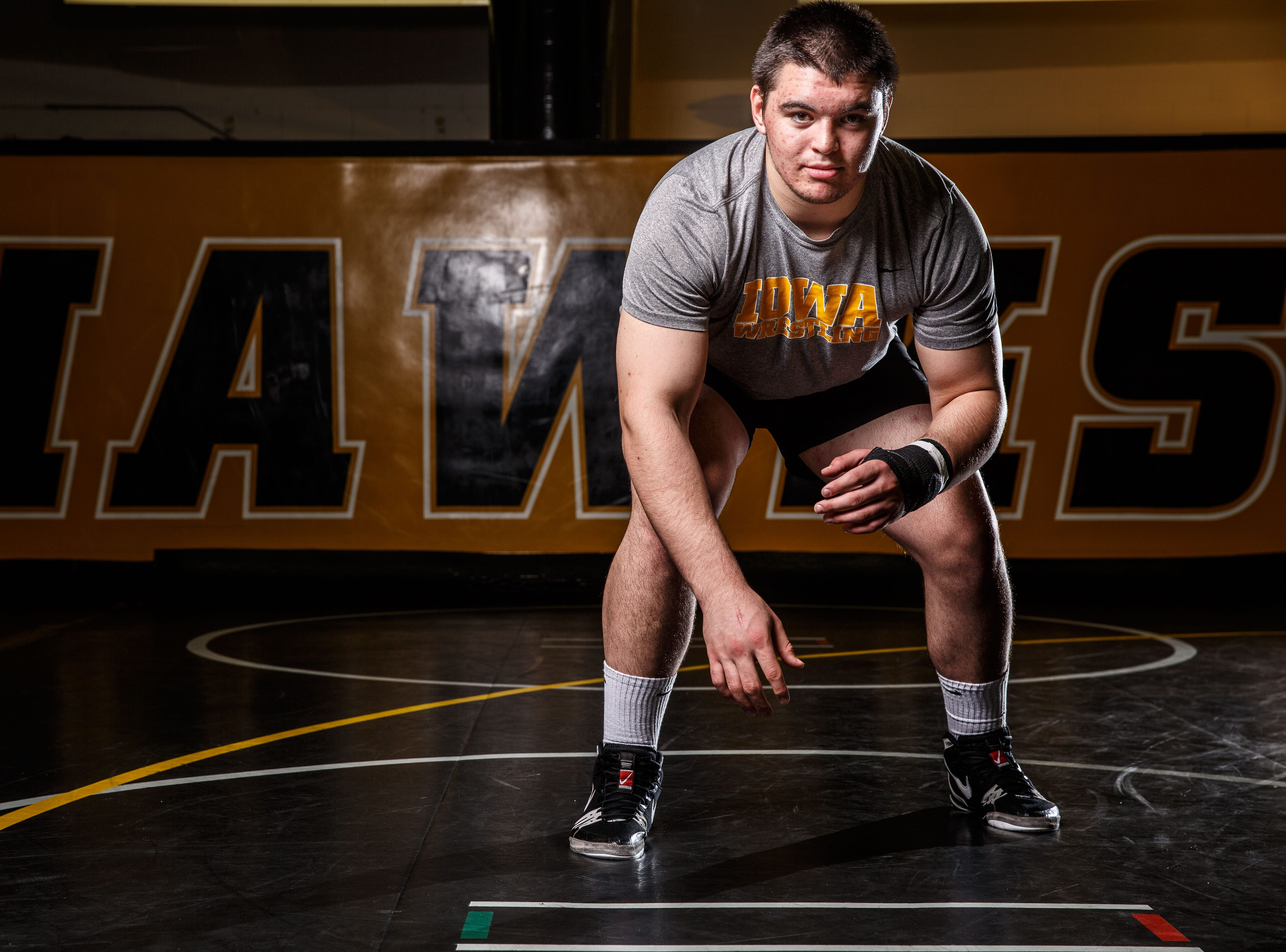 Tony Cassioppi stands for a portrait during Iowa wrestling media day Monday, Nov. 5, 2018.
