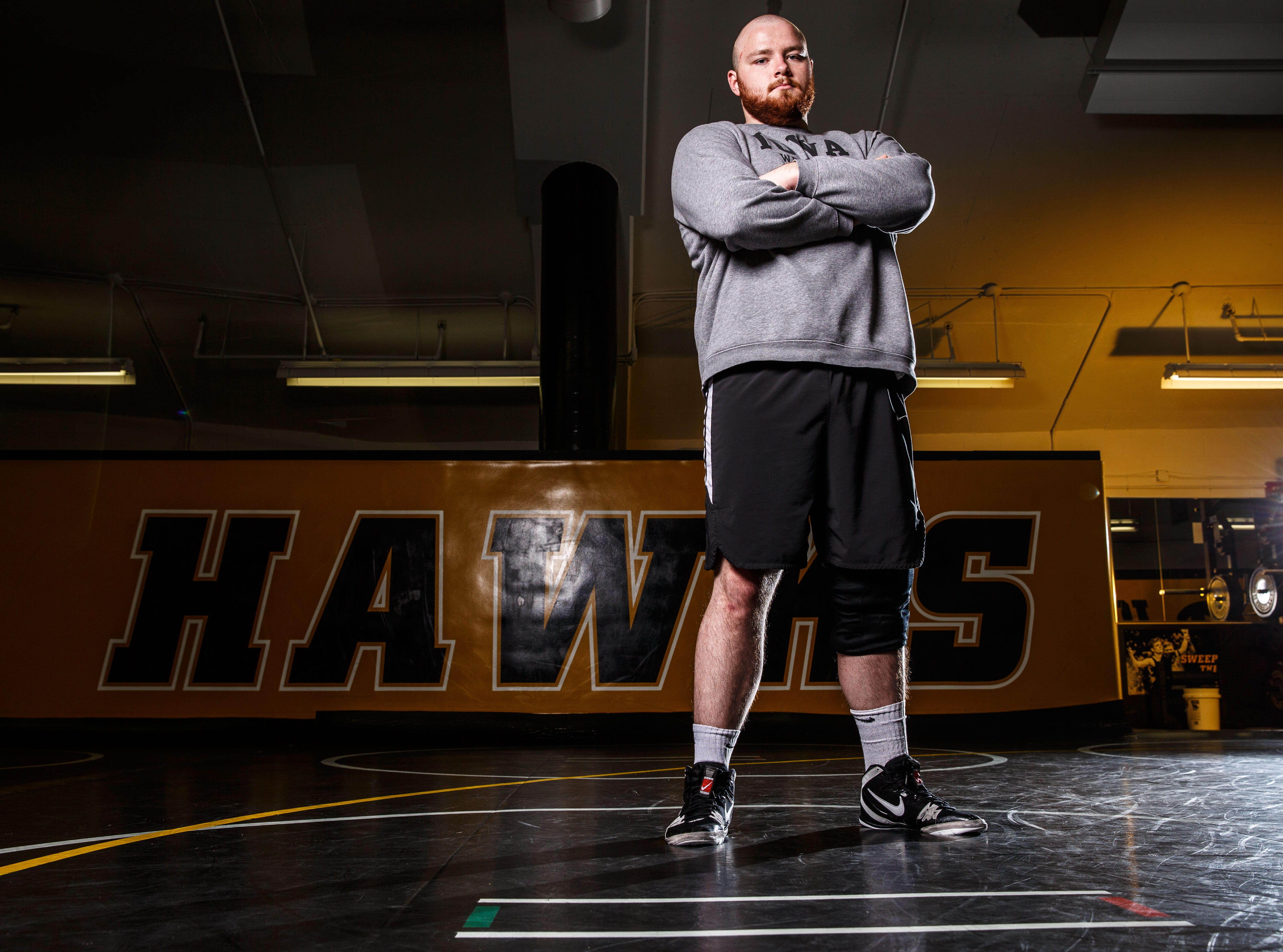 Sam Stoll stands for a portrait during Iowa wrestling media day Monday, Nov. 5, 2018.